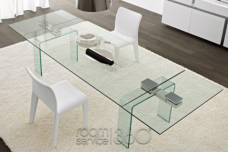 Azimut Glass Extension Dining Table By Cattelan Italia Muebles