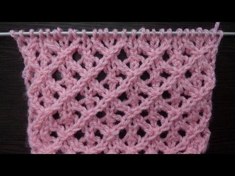 Diamond Lace Knit Stitch Diamond Knitting Pattern Rhombus