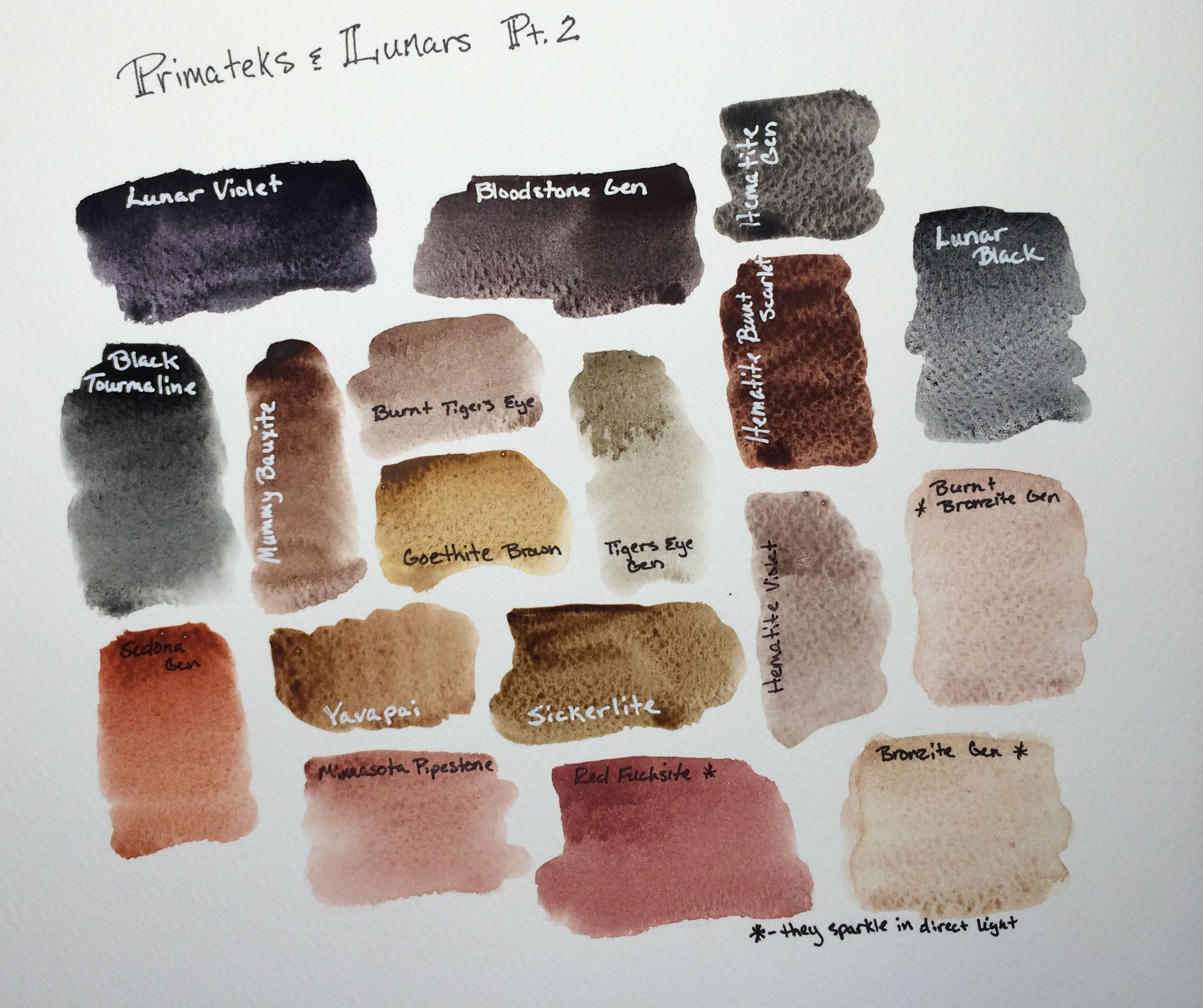 Daniel Smith Primatek And Lunars Watercolors Part 2 Watercolor