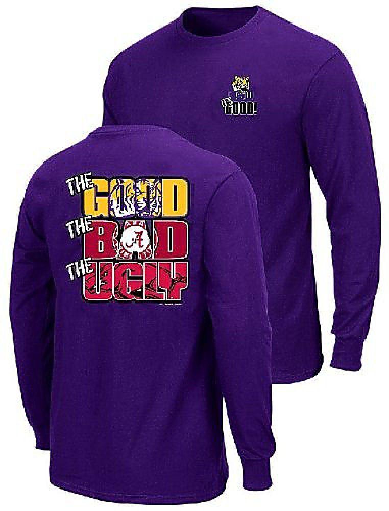 d5df9ea5c LSU Tigers The Good Bad Ugly Purple Long Sleeve T Shirt $24.95 | LSU ...