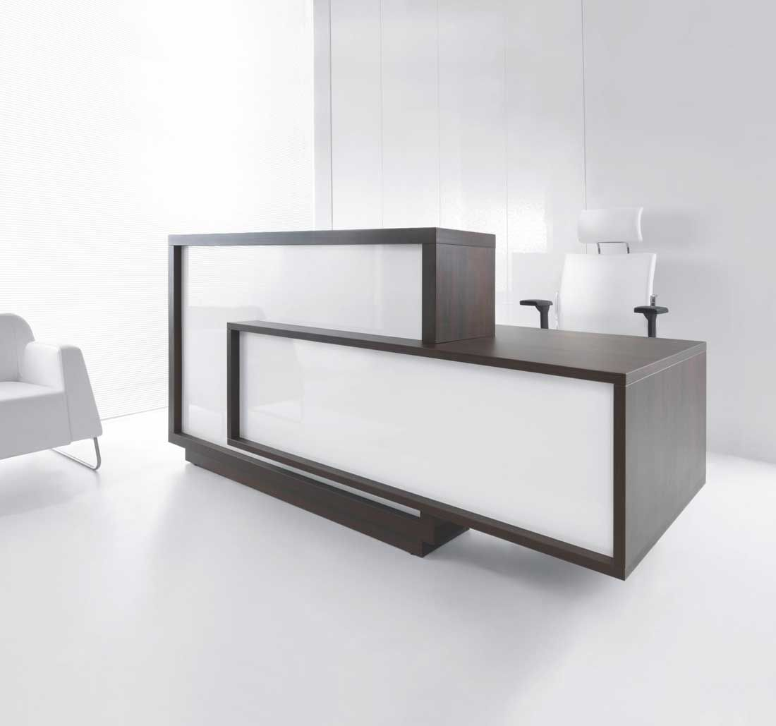 Don T Be A Square This Phenomenal Reception Desk Captures The Attention Of Guests And Contemporary Reception Desks Modern Reception Desk Reception Desk Design