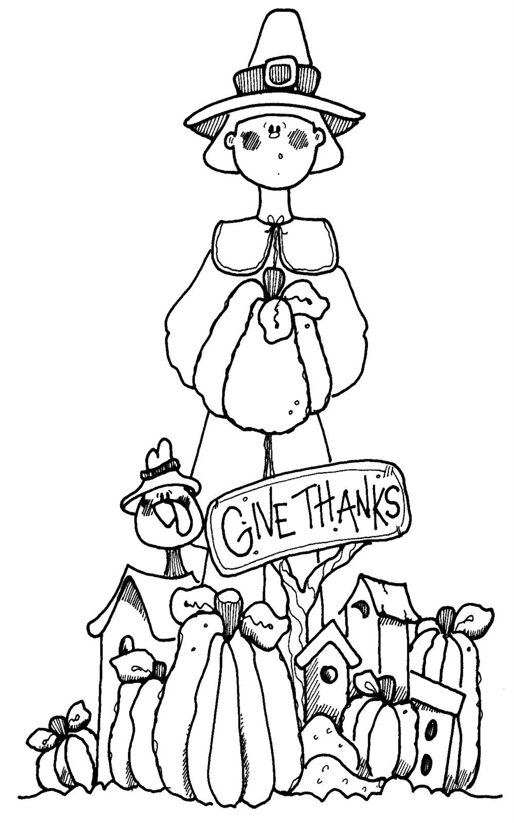 Giving Thanks Thanksgiving coloring pages, Free