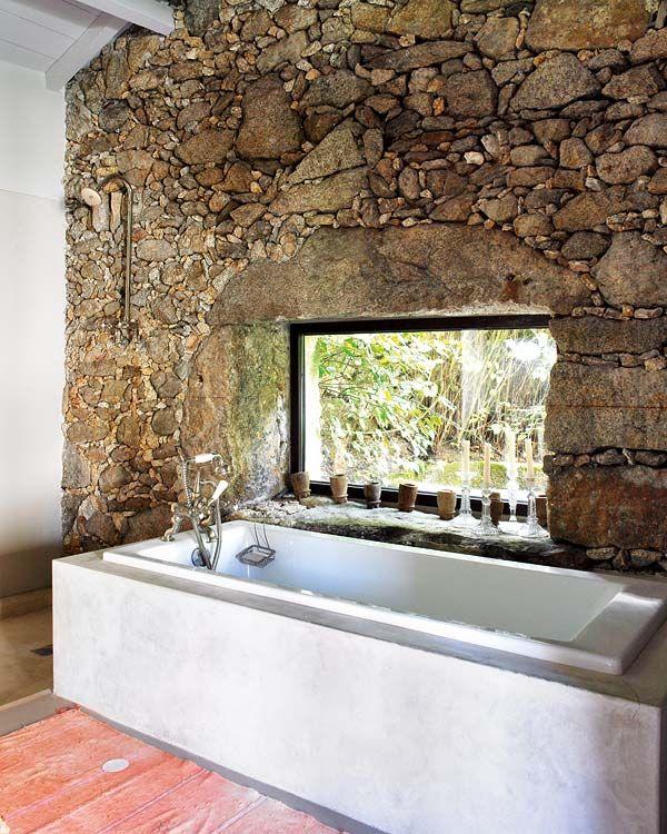 Casa de piedra estilo Bohemio Chic