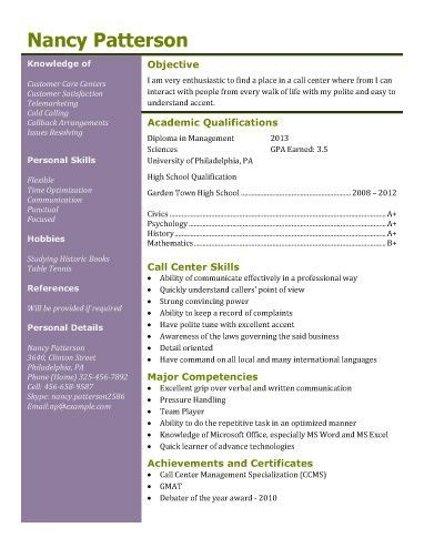 Call-Center-and-Customer-Service resume examples Pinterest