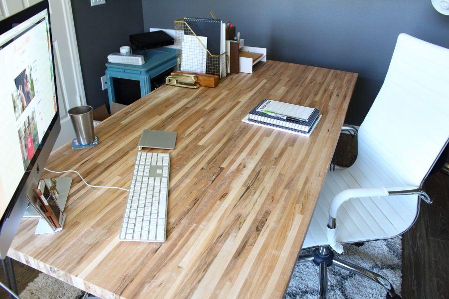 Diy Butcher Block Desk Modish Main Butcher Block Desk Diy Wood Desk Wood Desk Top