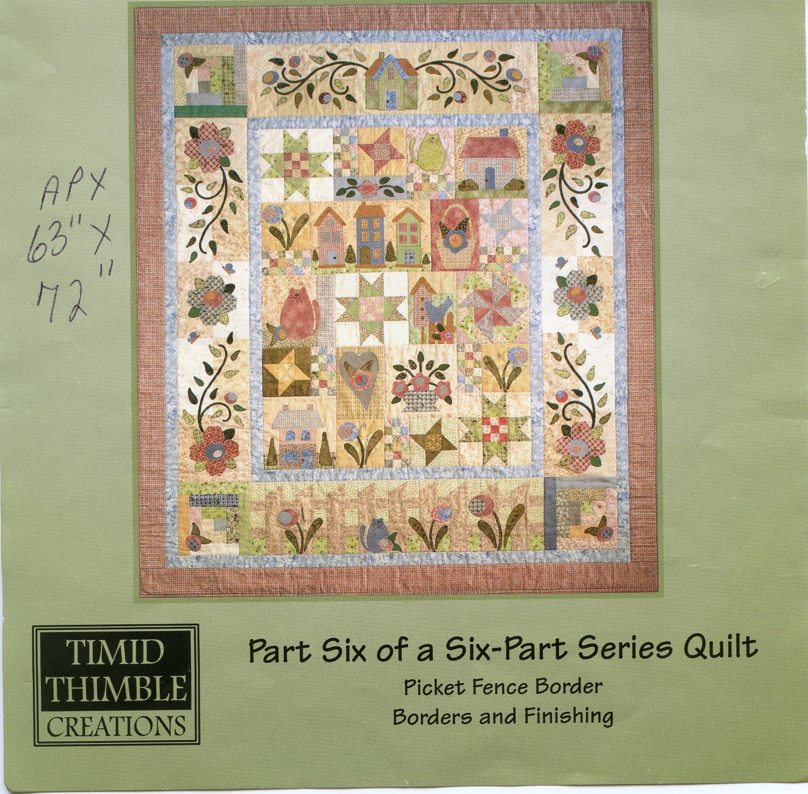 Rosewood Cottage Applique Quilt pattern by Nancy Odom | Quilting ... : cottage quilt designs - Adamdwight.com