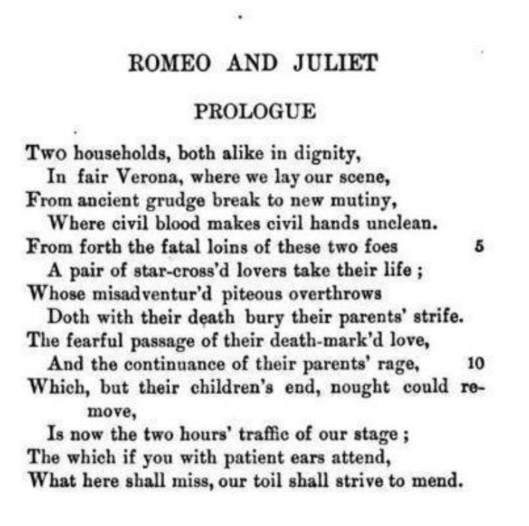 Romeo and Juliet Quotes and Analysis | GradeSaver