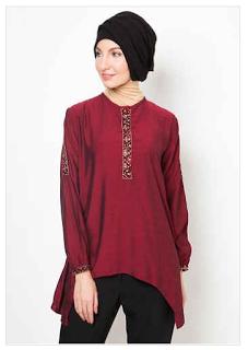 Baju Muslim Terbaru dan Terkini Trend Model Baju Batik Muslim