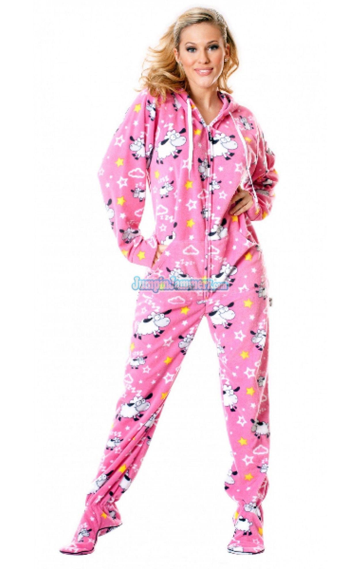 One Piece Adult Footed Pajamas