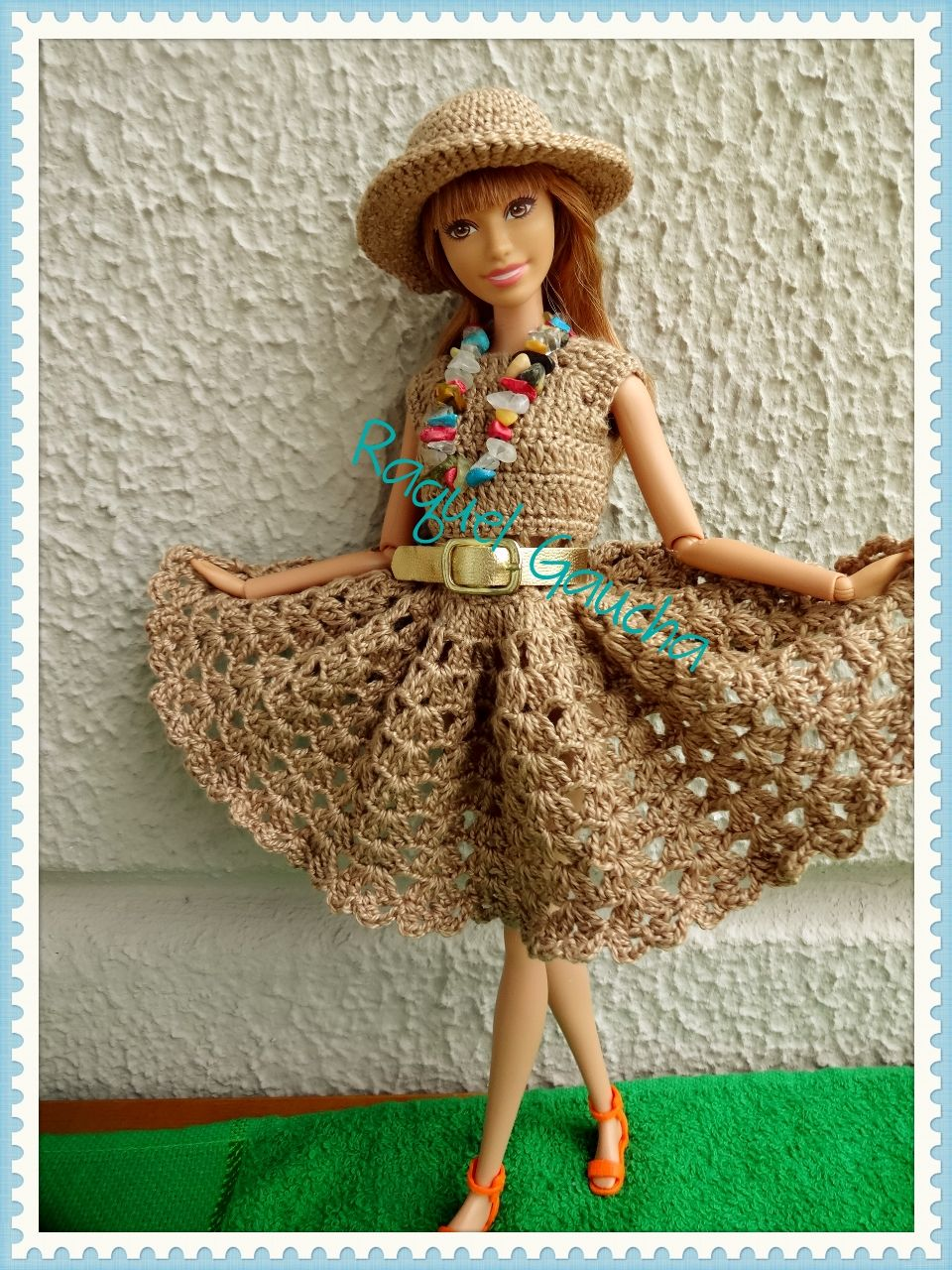 Cléa5 #Barbie #Crochet #Doll Muñeca #Vestido #Dress #Chapéu #Hat ...