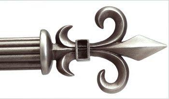 Instyledesign Schubert 1 5 Adjustable Curtain Rod 48 To 84 Inch