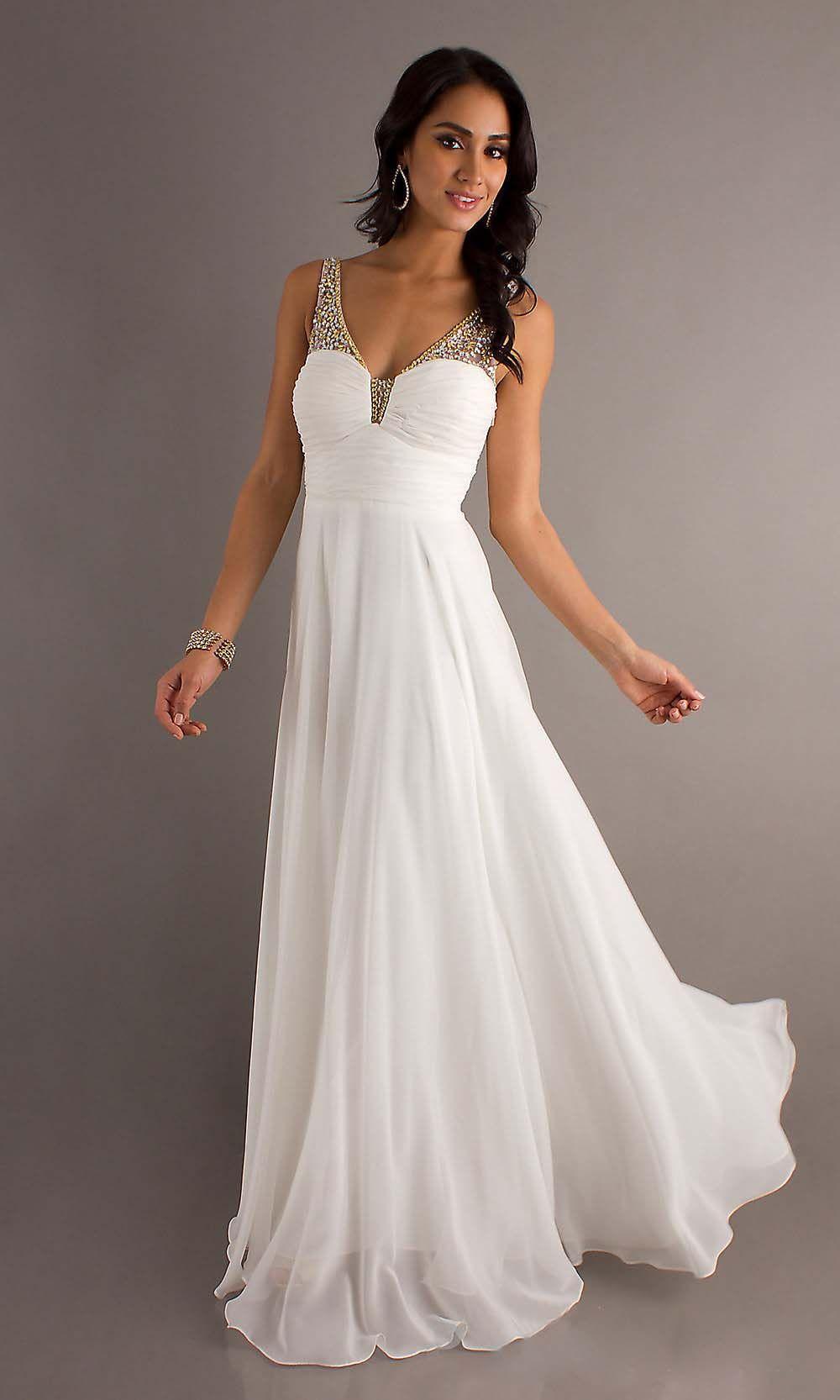 Off shoulder prom dress v neck prom dresses white prom dress