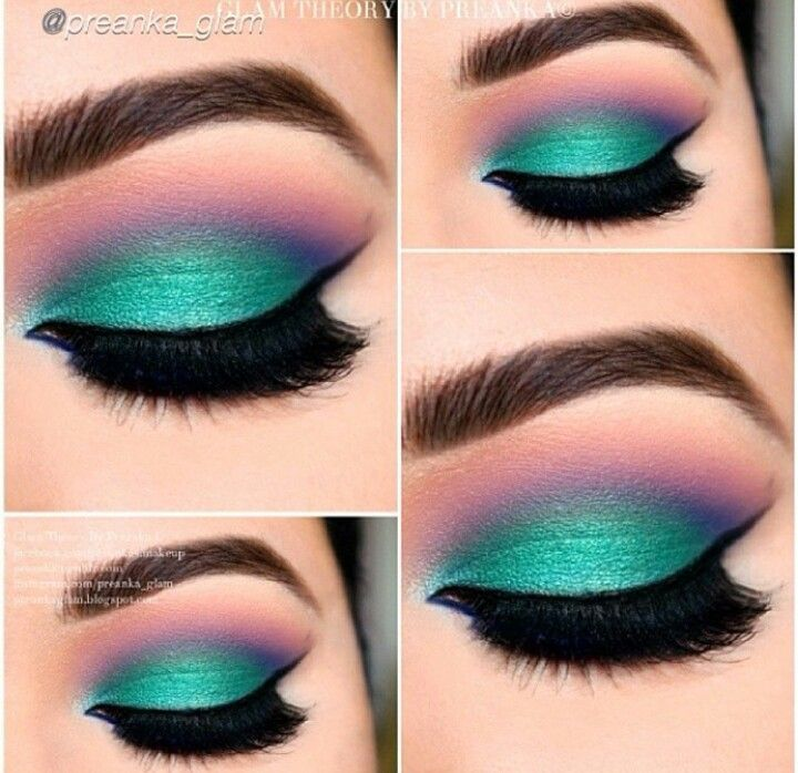 Turquoise And Pink Hair Pinterest Makeup Makeup Looks And Eye