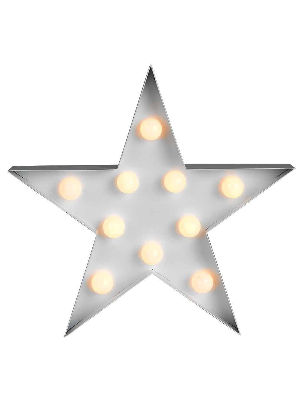 Star Shaped Wall Hanging With Warm White Led Lights