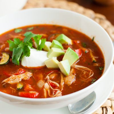Easy 30 Minute Clean Eating Chicken Tortilla Soup Recipe
