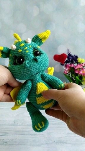 Photo of Crochet PATTERN Dragon. Dragon baby Amigurumi toys. Amigurumi patterns