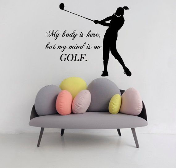 golfer wall decals sport girl player quotewalldecalswithlove