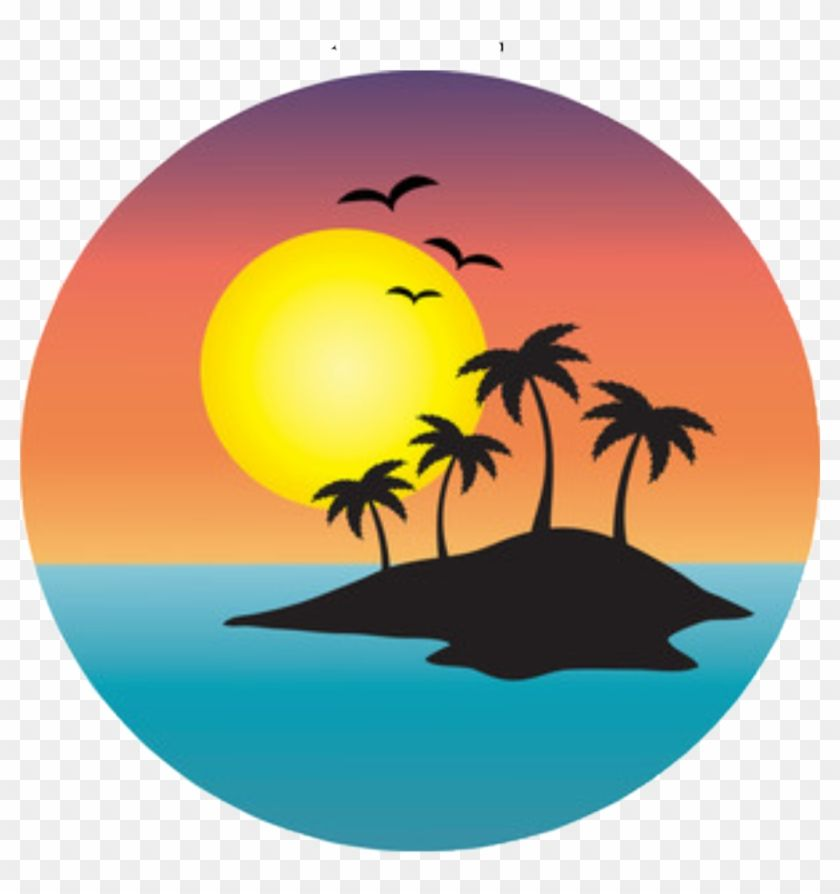 Download And Share Clipart About Sticker Island Sunset Sunrise Ocean Freetoedit Palm Tree Island Clip Art Find More Art Palm Tree Clip Art Art Images