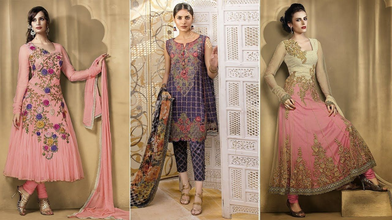 5c8621d68 Beautiful Pakistani Eid Dresses For Girls 2017 - 2018