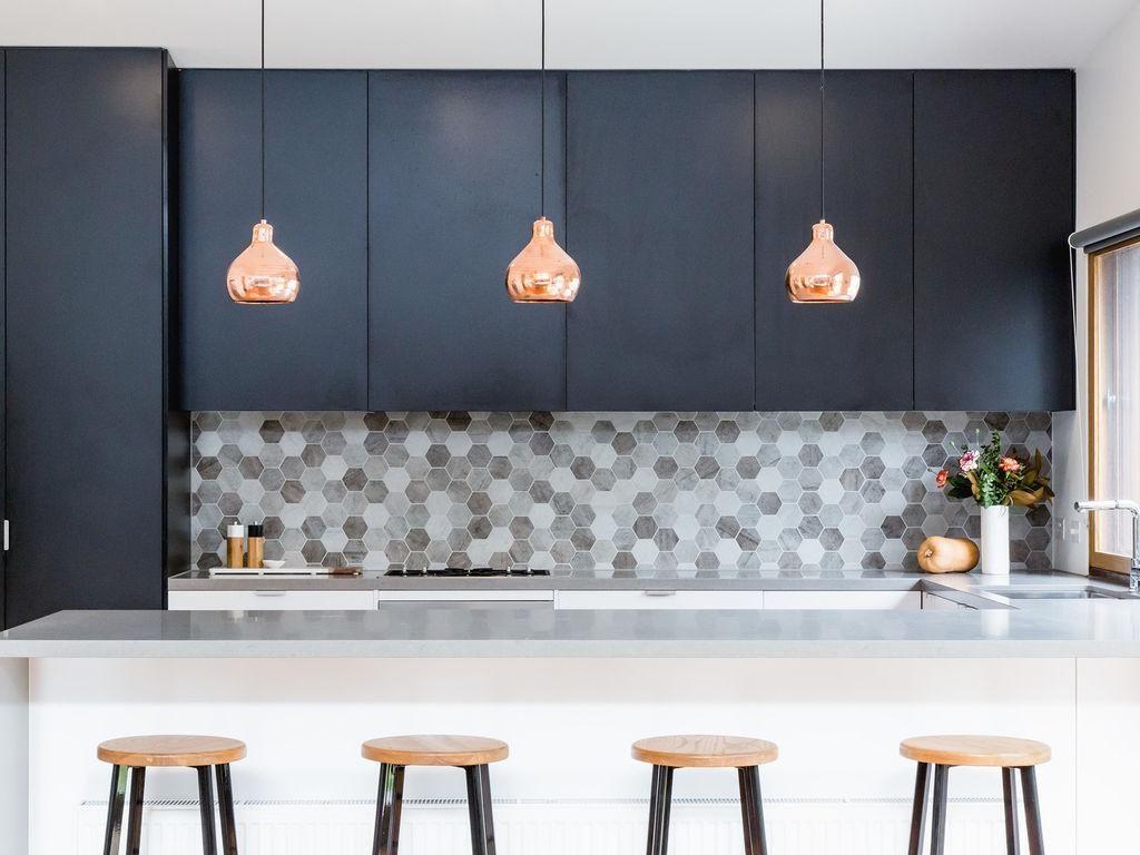 Image Result For Grey Rose Gold Kitchen Rose Gold Kitchen Top Kitchen Trends Interior Design Kitchen