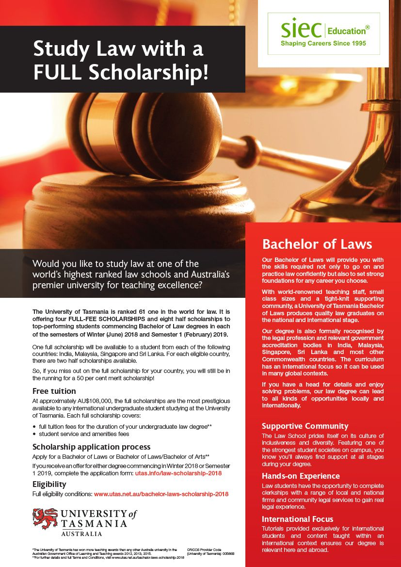 Study Abroad Studying Law Scholarships Bachelor Of Laws