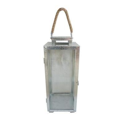 20 in. Galvanized Metal Lantern-14003M - The Home Depot
