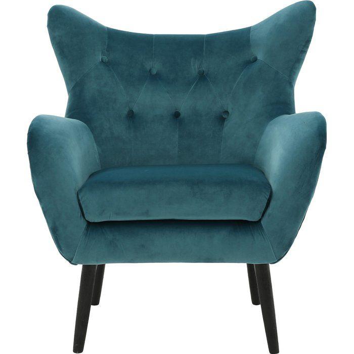 Bouck 21 Wingback Chair Velvet Armchair Armchair Mid Century Chair Styles