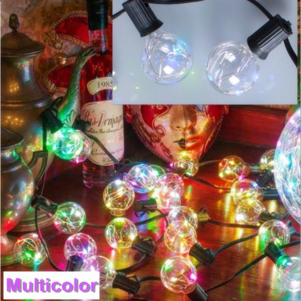 Yunji Neue 8 Mt 25 Glühbirnen Weihnachten Led RGB String Licht ...
