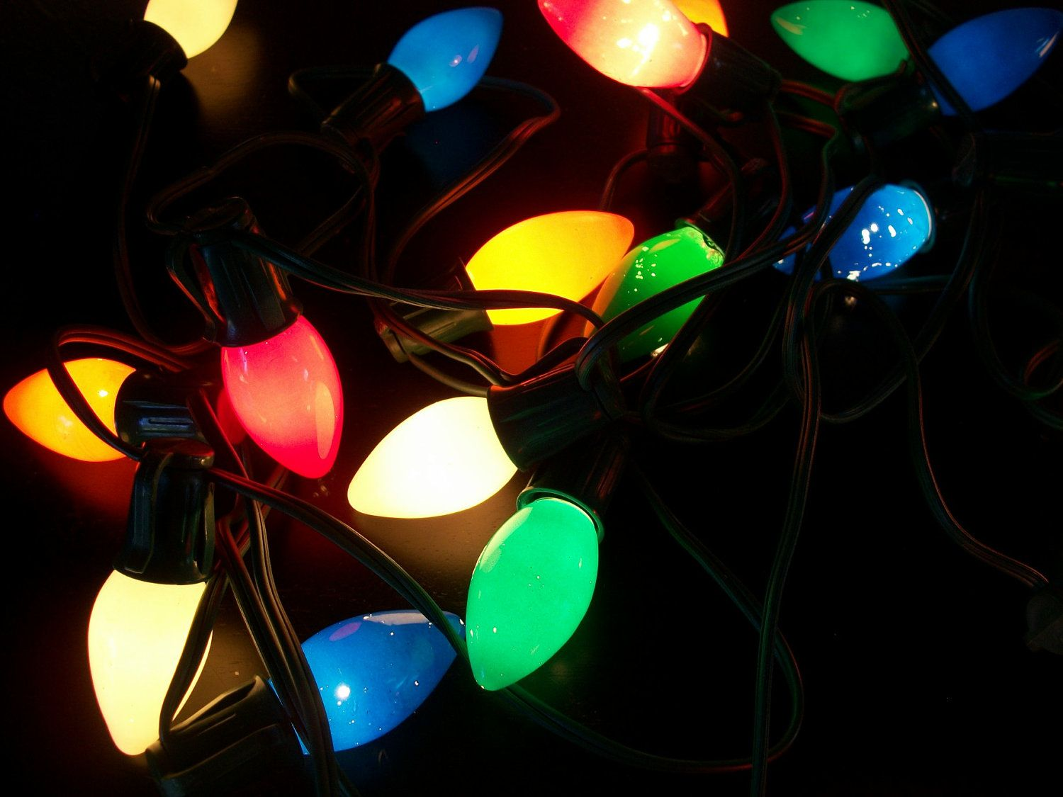 vintage string of 20 multi color christmas lights large bulbs 15