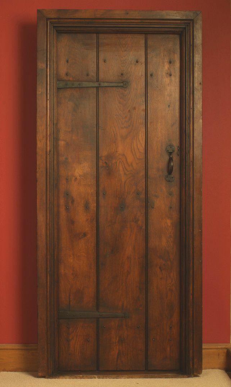 Wide Oak Beaded Planked Door Door Lining And Architrave Complete