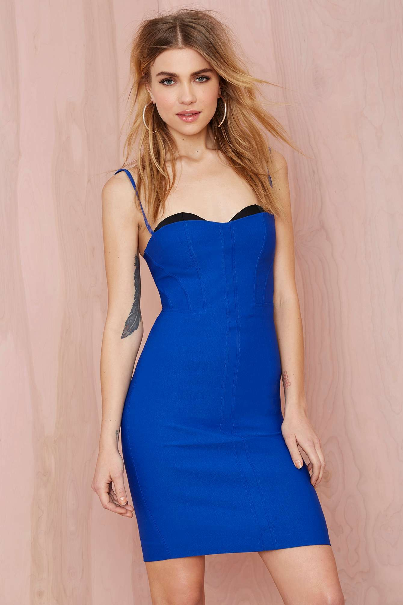 Nasty Gal Sensation Corset Dress - Cobalt Blue | Thanks, It\'s New ...