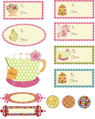 Tea cup garden inspired shabby chic inspired tags labels free living life as art free printable artist made gift tags over 135 sheets worth negle Choice Image