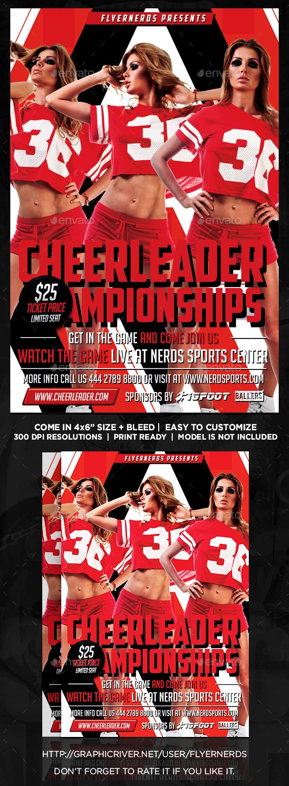 Cheerleader Competions Sports Flyer  Event Flyers Flyer Template
