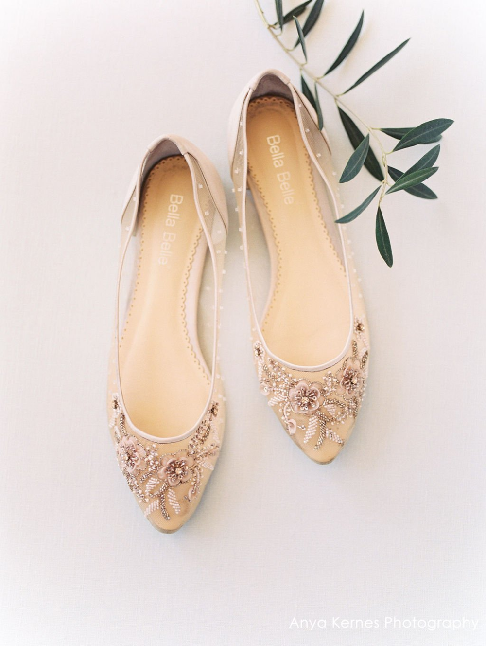 Adora Romantic Floral Comfortable Blush Wedding Flats Bella Belle Evening Flats Bridal Shoes Flats Boho Wedding Shoes