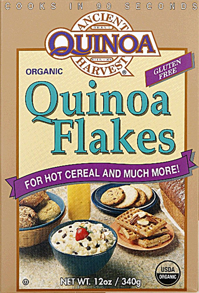 Ancient Harvest Organic Quinoa Flakes Gluten Free - good sub for oatmeal in my morning refrigerator oatmeal jar.