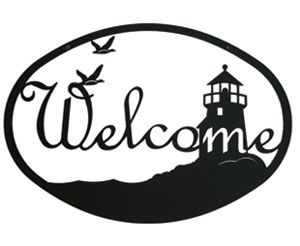 Lighthouse  Birds Welcome Sign HttpWwwOkdecorComStoreP