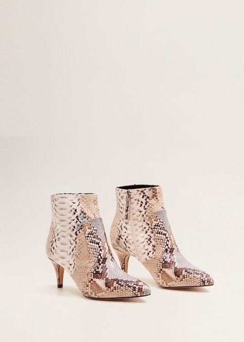 f9015f143a4 Bota piel efecto serpiente - Zapatos de Mujer