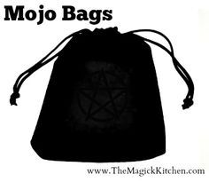A Mojo or Spell bag is a collection of Magickal ingredients bundled into a small pouch or bag for the purpose of conducting spells....click to read more