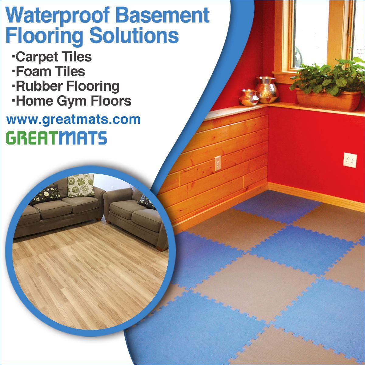 Waterproof Basement Flooring Solutions In 2020 Basement Flooring Waterproof Basement Flooring Waterproofing Basement