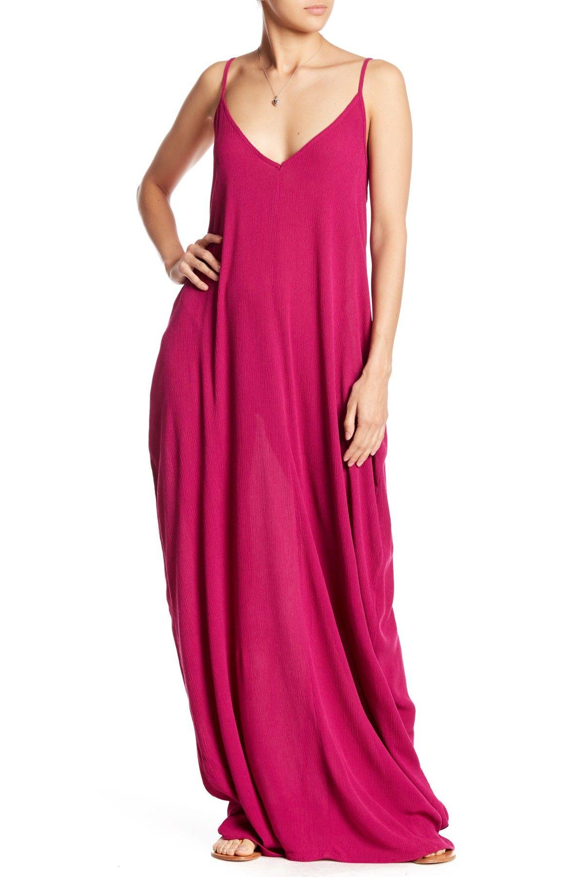 722744ae3a7 V-Neck Sleeveless Gauze Maxi Dress in 2019 | Fashion | Dresses ...