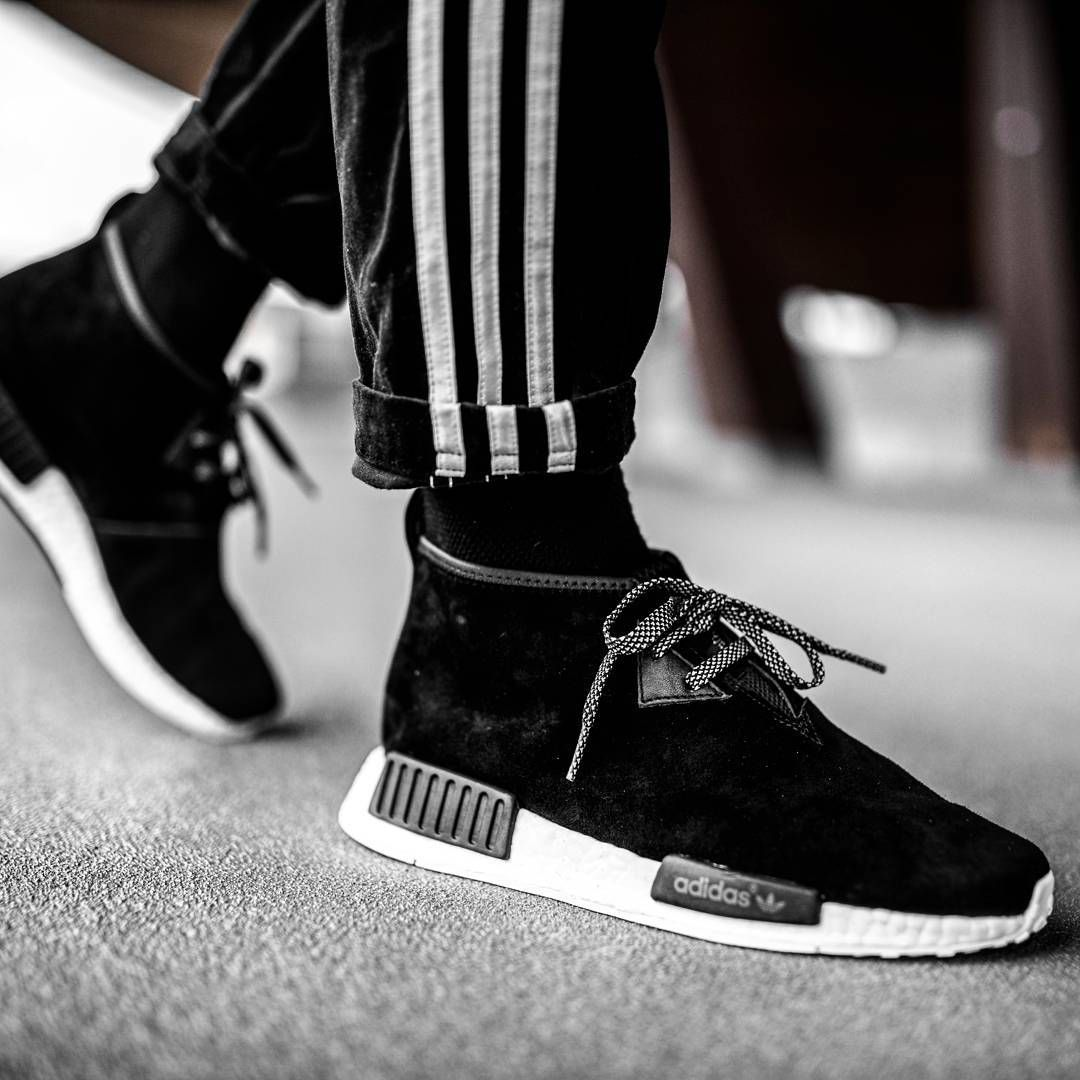 Top Quality Adidas Canada NMD Runner Black Blue White Womens
