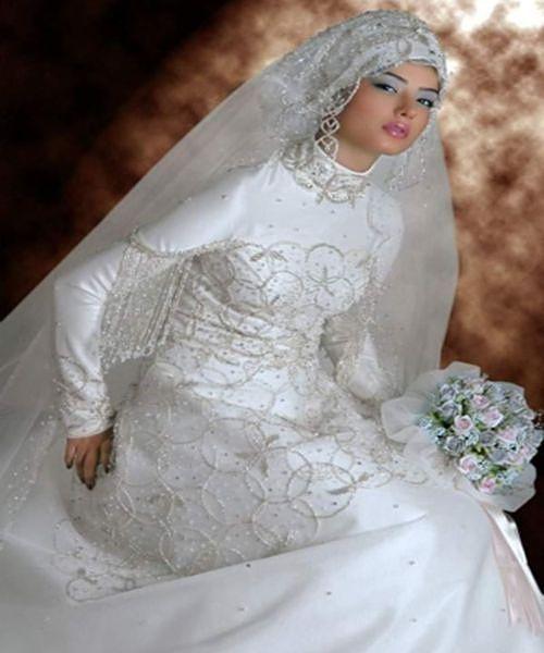 1e0f86d02 wedding dresses and viels | Modern Muslim Wedding Dresses Design With Veil
