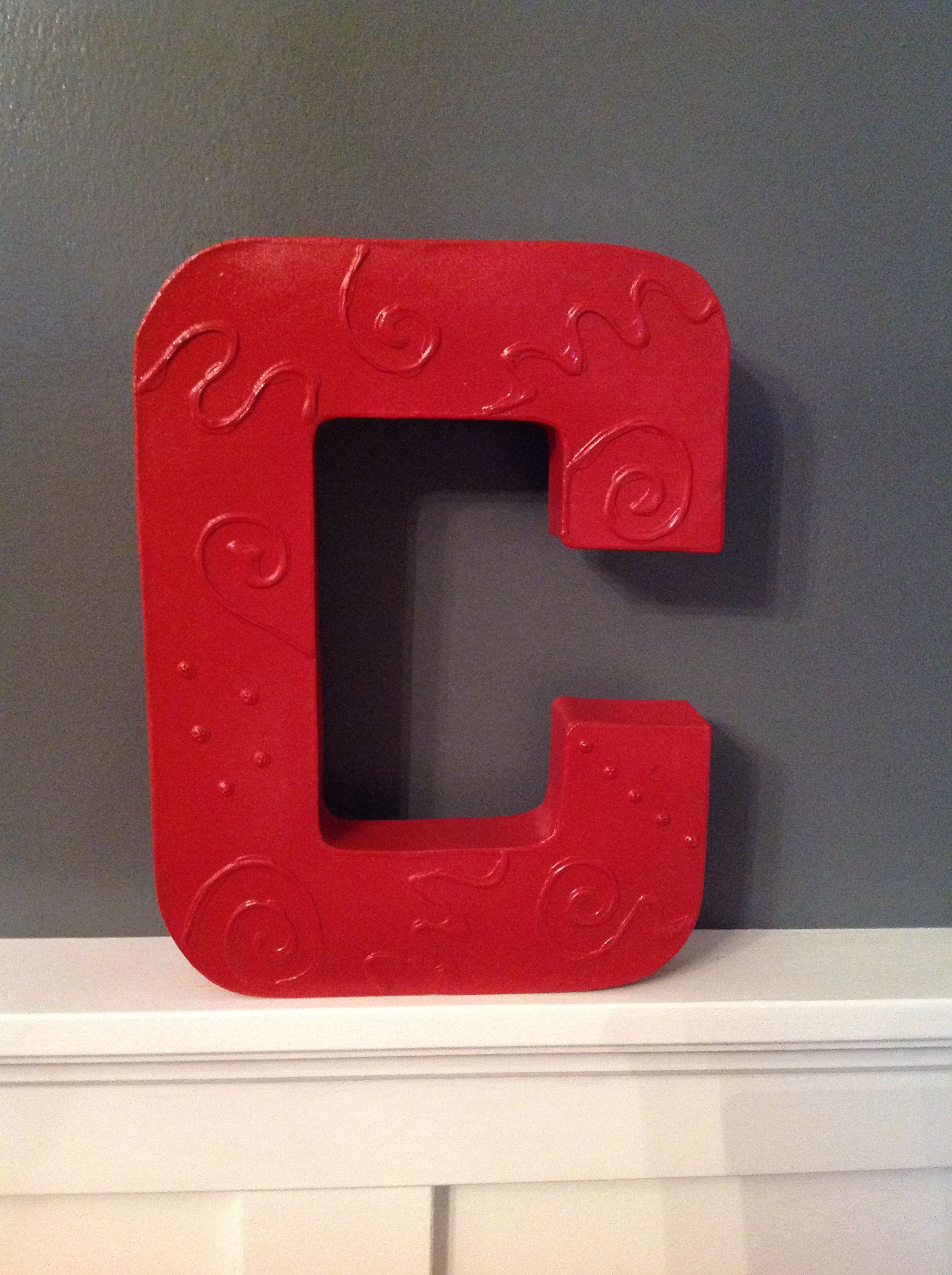 Cardboard letter from Pat Catans....layers and layers of Elmer\'s ...