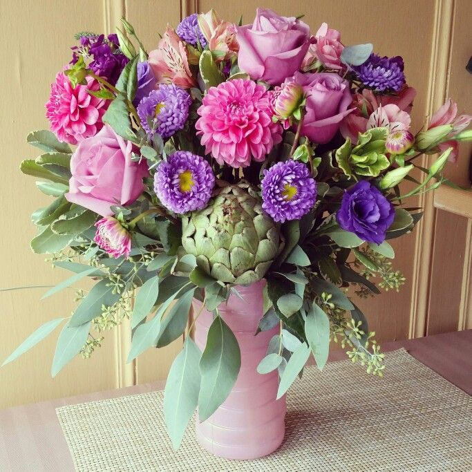 Lavender and Pink arrangement ft. Matsumoto Asters
