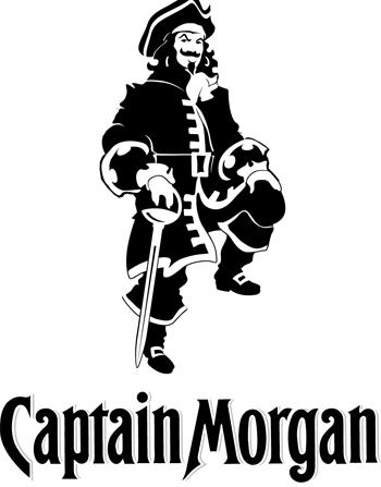 CAPTAIN MORGAN VINYL STICKER NEW IN BLACK