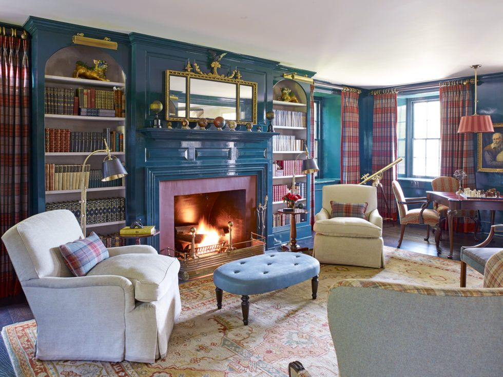 42 Unexpected Pops Of Colors That Will Transform Any Room Paint Colors For Living Room Living Room Paint Home Library Design