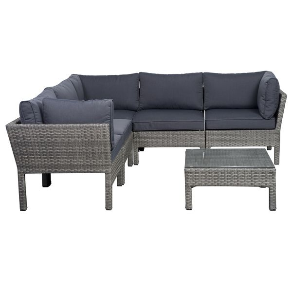 Atlantic Majorca 6-piece Grey Sectional Final Cut - Playroom