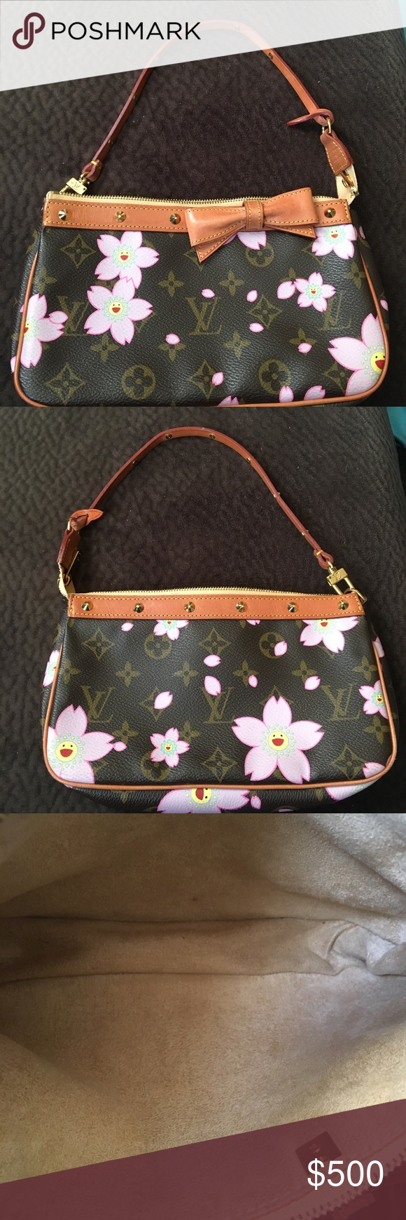 Authentic Louis Vuitton Cherry Blossom Pochette Authentic Louis