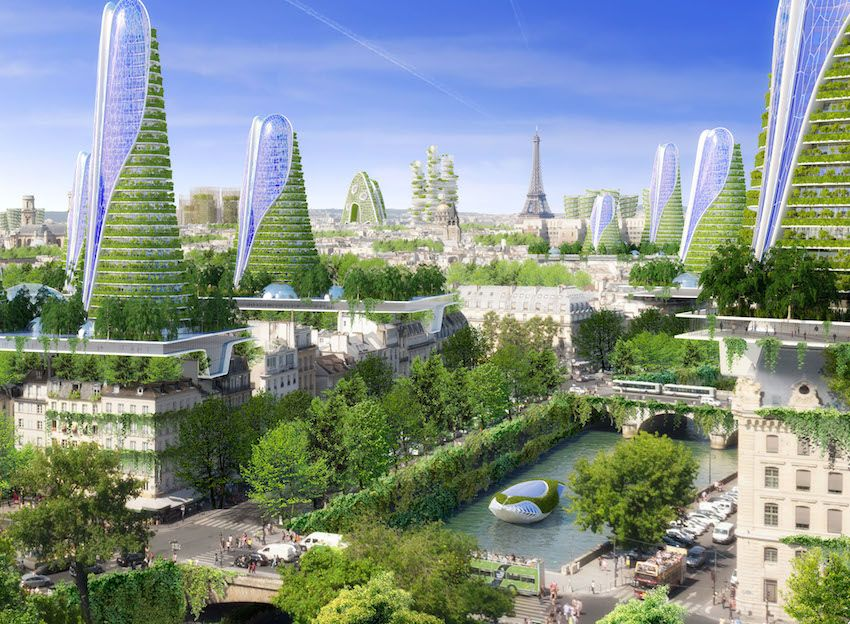 Exceptionnel Paris en 2050 : les incroyables propositions de l'architecte  PO05