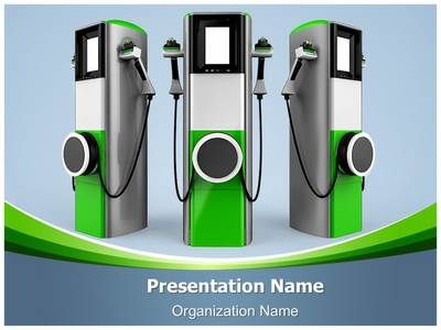 Electric Car Charging Station Powerpoint Template Is One Of